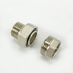 Холендър радиаторен прав никелиран с матирано покритие