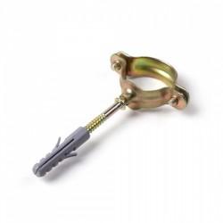 Скоба единична метална с винт и дюбел