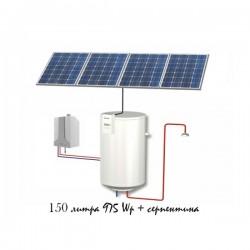 Фотоволтаичен бойлер за подгряване на вода 150L и серпентина