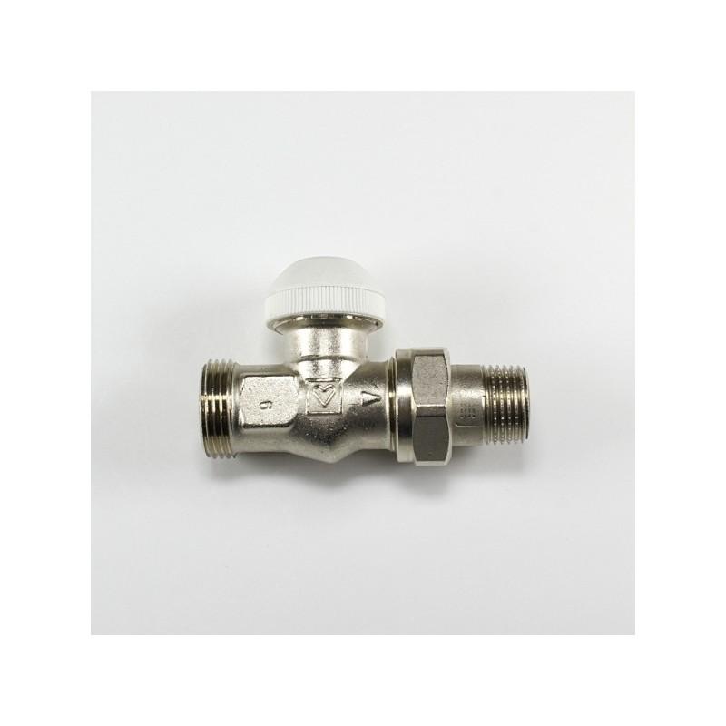 Радиаторен кран прав за термоглава и адаптор Herz G 3/4 x 1/2