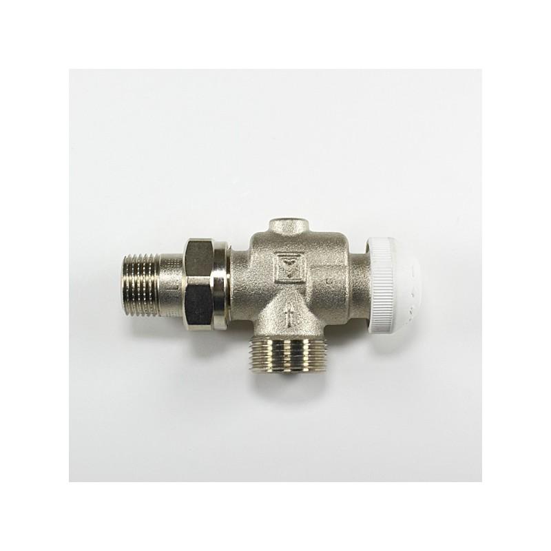 Аксиален радиаторен кран за термоглава и адаптор HERZ G 3/4 x 1/2
