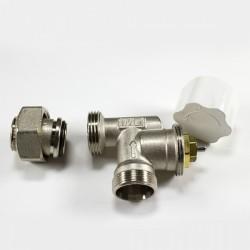 Вентил радиаторен ъглов аксиален за терморегулатор M320 Luxor