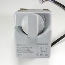 Сферичен кран с електрическа задвижка и врътка 220V